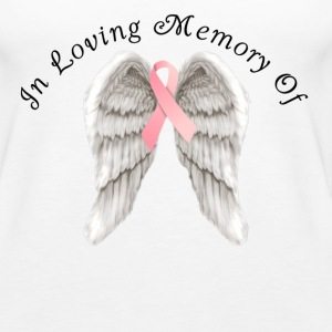 Memory Angel Wings for Breast Cancer template Tanks - Women's Premium Tank Top