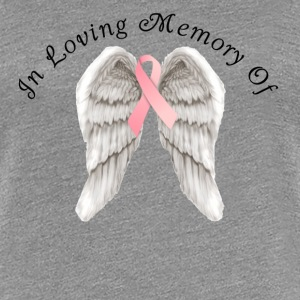 Memory Angel Wings for Breast Cancer template Women's T-Shirts - Women's Premium T-Shirt