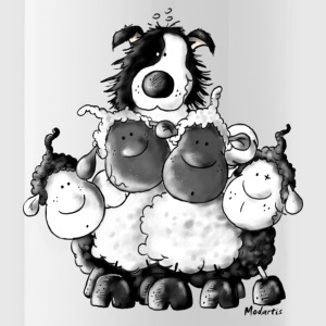 Border Collie And Sheep - Dog Bottles & Mugs - Water Bottle