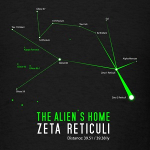 Zeta Reticuli Aliens - Men's T-Shirt