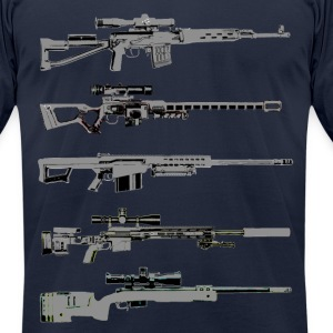 Sniper Rifles - Men's T-Shirt by American Apparel