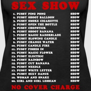 Bangkok Red Light Ping Pong Sex Show - Women's Premium Tank Top