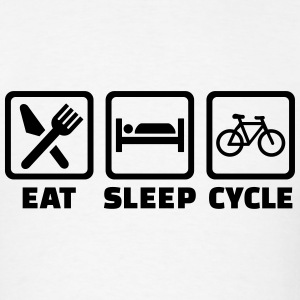 Eat Sleep Bicycle T-Shirts - Men's T-Shirt
