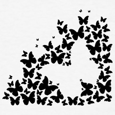 Butterfly Silhouette (1c)++2014 T-Shirts