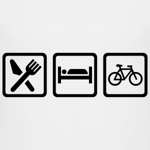 Eat Sleep Cycling Kids' Shirts - Kids' Premium T-Shirt