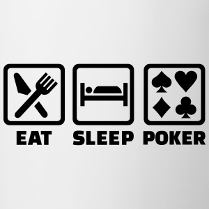 Eat Sleep Poker Bottles & Mugs - Contrast Coffee Mug