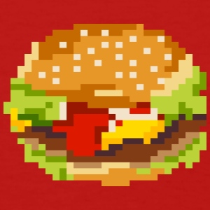 8bit hamburger - Women's T-Shirt