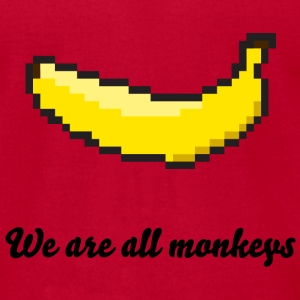 We are all monkeys - Men's T-Shirt by American Apparel