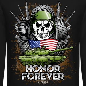 Offroad Military Memorial Long Sleeve Shirts - Crewneck Sweatshirt