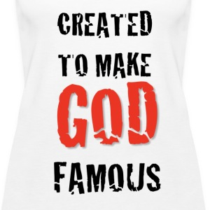 Created to Make God Famous - Women's Premium Tank Top