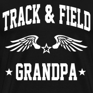 track_and_field_grandpa T-Shirts - Men's Premium T-Shirt