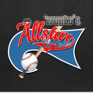 Worlds Allstar Big Sister Baseball park Flag Bags & backpacks - Tote Bag