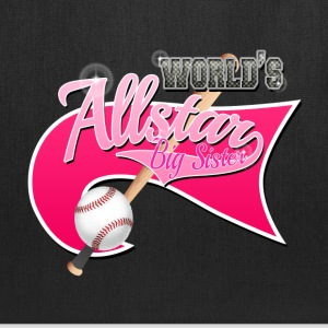 Worlds Allstar Big Sister Baseball Pink park Flag Bags & backpacks - Tote Bag