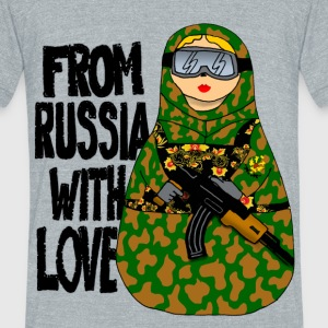 Russian Nesting Doll - Unisex Tri-Blend T-Shirt by American Apparel