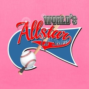 Worlds Allstar Lil Sister Baseball park Flag Bags & backpacks - Tote Bag