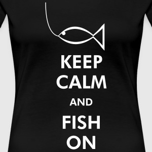 Keep Calm Fish On Women's T-Shirts - Women's Premium T-Shirt