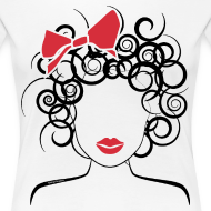 Design ~ Curly girl (red bow)