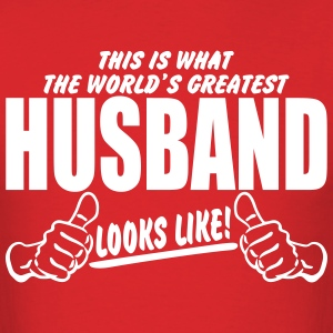 Worlds Greatest Husband Looks Like T-Shirts - Men's T-Shirt