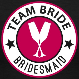 Team Bride Badge - Bridesmaid - Women's V-Neck T-Shirt