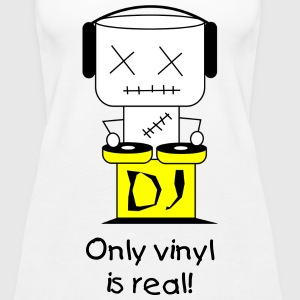 Only vinyl is real - Women's Premium Tank Top