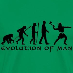 evolution_of_man_viking_a_1c T-Shirts - Men's Premium T-Shirt