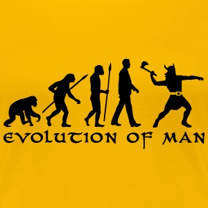evolution_of_man_viking_a_1c Women's T-Shirts - Women's Premium T-Shirt