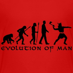evolution_of_man_viking_a_1c Kids' Shirts - Kids' Premium T-Shirt