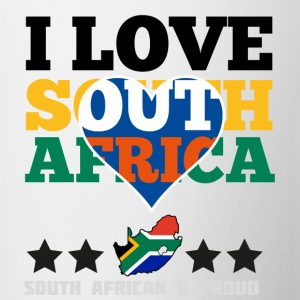 I Love south africa Bottles & Mugs - Contrast Coffee Mug
