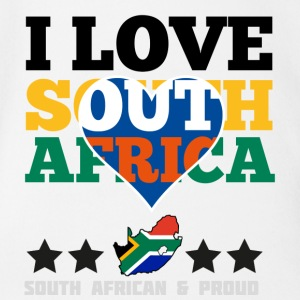 I Love south africa Baby & Toddler Shirts - Short Sleeve Baby Bodysuit