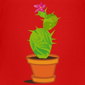 A cactus with blossom  Kids' Shirts - Kids' Premium T-Shirt