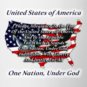 United States, Pledge, Under God - Contrast Coffee Mug