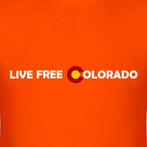 Live free colorado letters horizontal.png T-Shirts - Men's T-Shirt