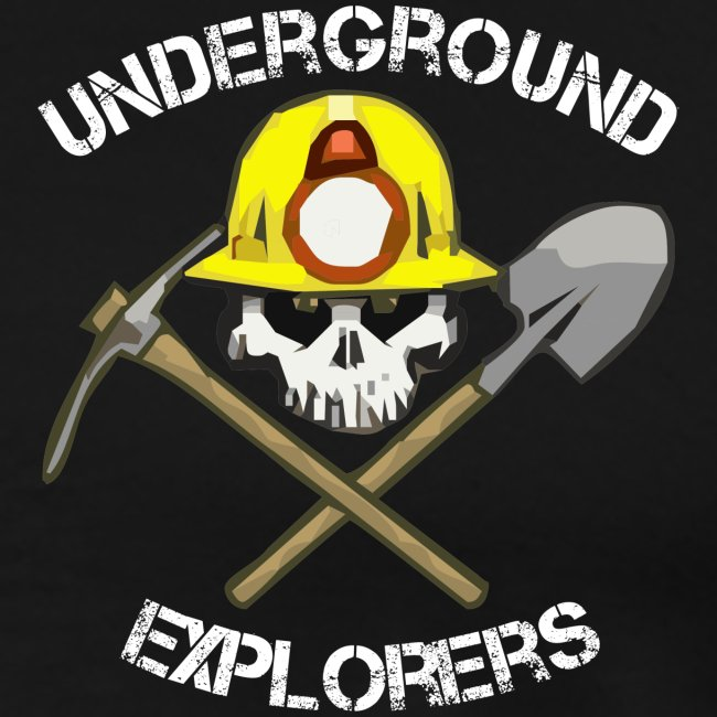 Underground Explorers Black Heavyweight Logo Tee