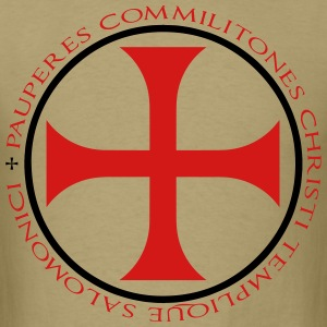 Knights Templar T-Shirt - Tan - Men's T-Shirt