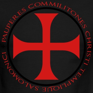 Knights Templar T-Shirt - White and Red - Men's Ringer T-Shirt