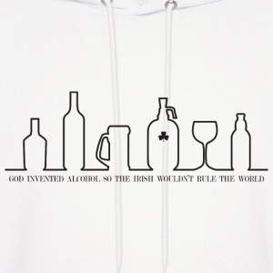 God invented alcohol... - Men's Hoodie