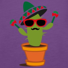 Cactus with sombrero and maracas  Tanks