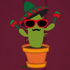 Cactus with sombrero and maracas  Hoodies