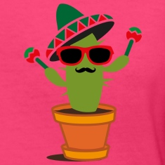 Cactus with sombrero and maracas  Women's T-Shirts