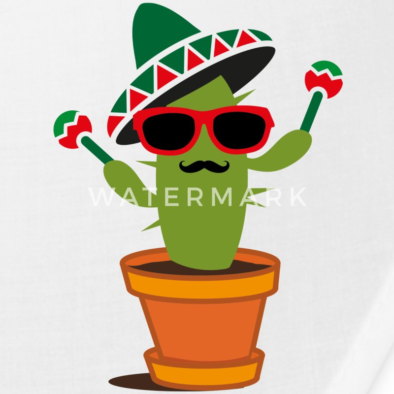 Cactus with sombrero and maracas  Caps - Bandana