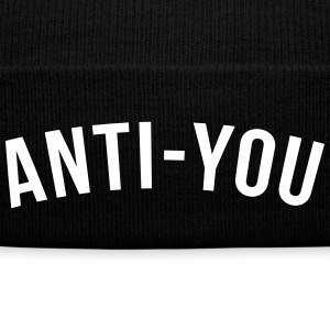 Anti-you Caps - Knit Cap with Cuff Print