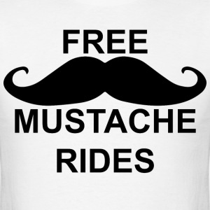 FreeMustacheRides T-Shirts - Men's T-Shirt