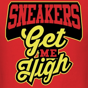 sneakers get me high 1 T-Shirts - Men's T-Shirt