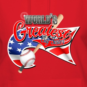 Worlds Greast Big Sister Baseball Park Flag USA 3 Hoodies - Women's Hoodie