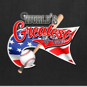Worlds Greast Big Sister Baseball Park Flag USA 3 Bags & backpacks - Tote Bag