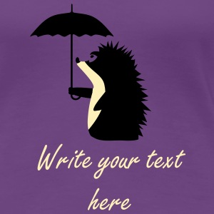 A hedgehog with an umbrella Women's T-Shirts - Women's Premium T-Shirt