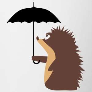 A hedgehog with an umbrella Bottles & Mugs - Contrast Coffee Mug