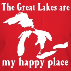 Great Lakes / my happy place Hoodies