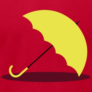 HIMYM Yellow Umbrella - Men's T-Shirt by American Apparel