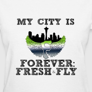 FFF_City on my Back_blk T-Shirts - Women's T-Shirt